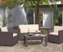 Lounge Set 4 tlg. brau-beige